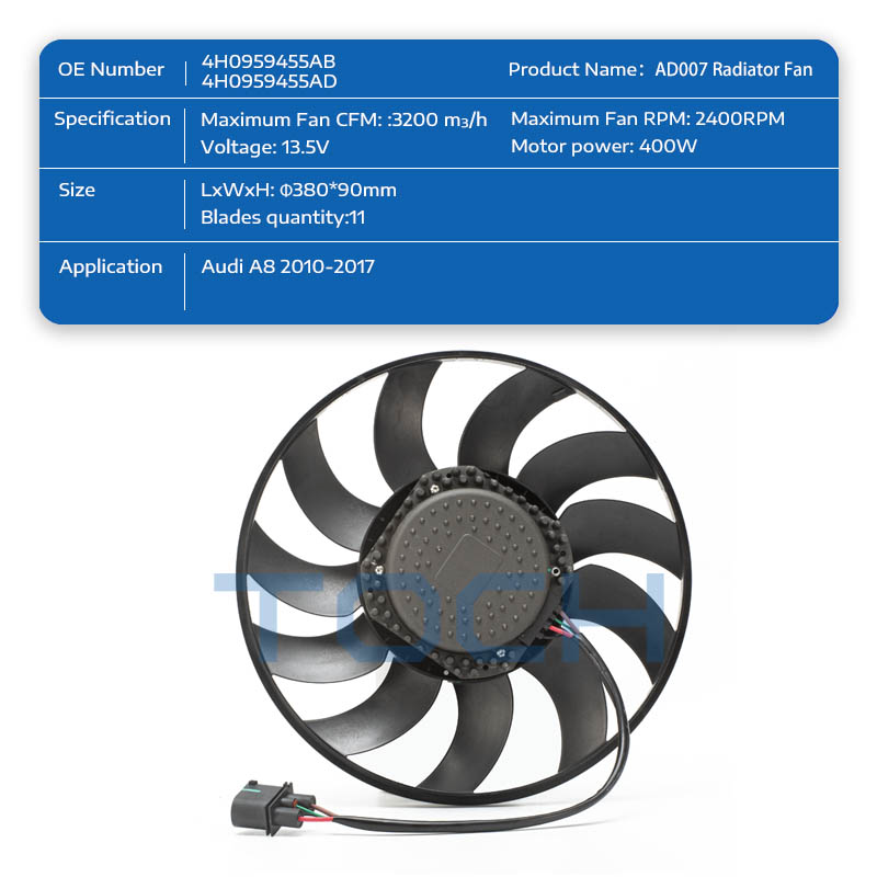 TOCH high-quality car radiator electric cooling fans supply for car-1