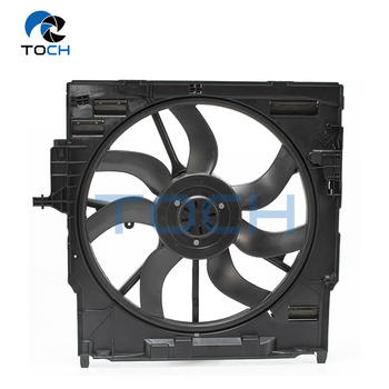 Vehicle 600W Radiator Fan Housing With Fan 17427634467/17428618241 For BMW X5