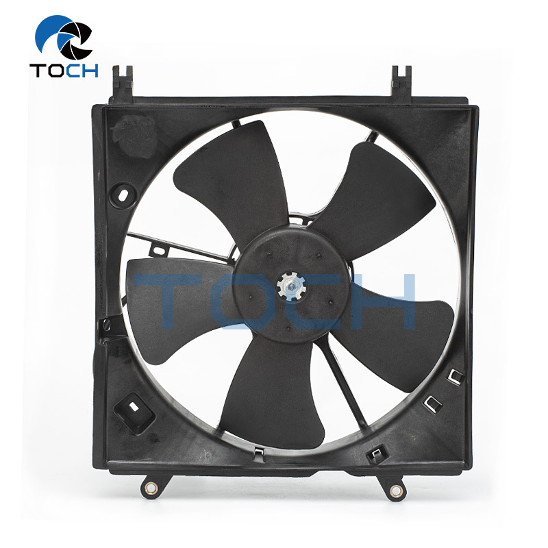 Auto Air Conditioner Radiator Fan Assembly Replacement 12V 16363-0D110 /16711-28150 For Toyota