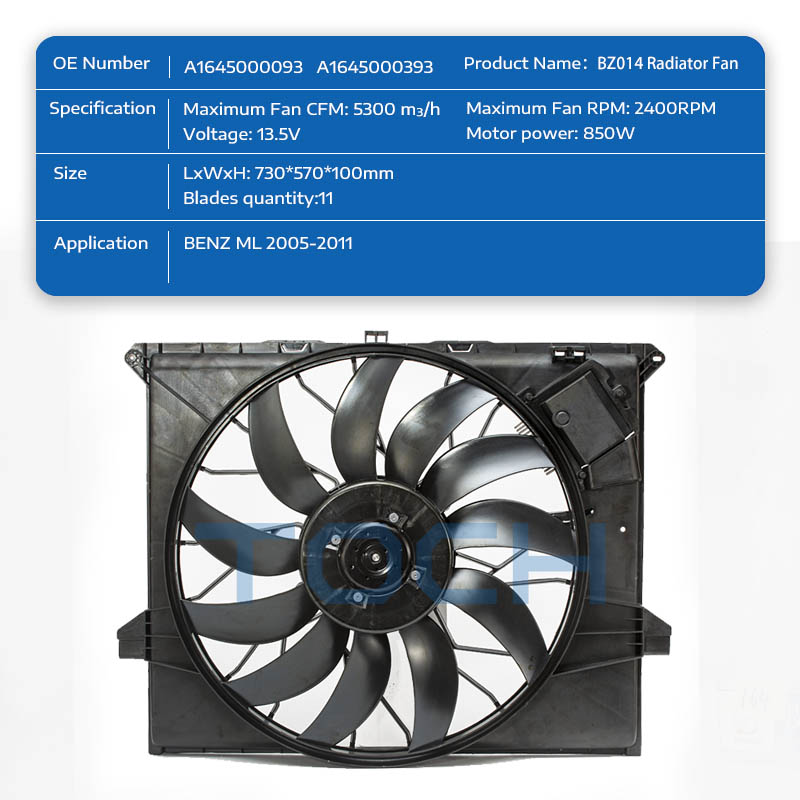 TOCH high-quality brushless radiator fan supply for benz-1