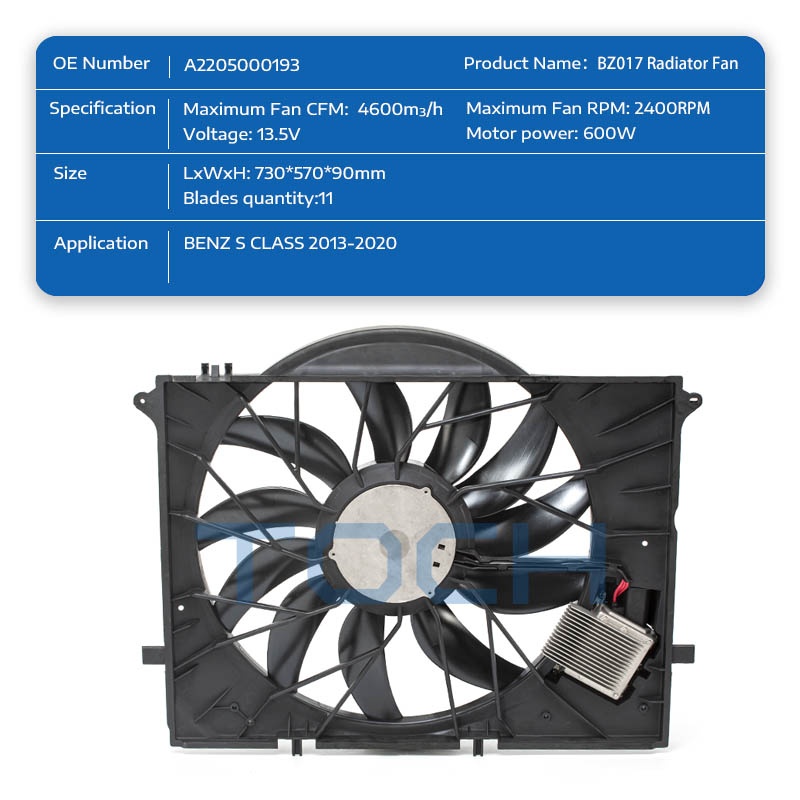 TOCH top car radiator cooling fan manufacturers for car-1